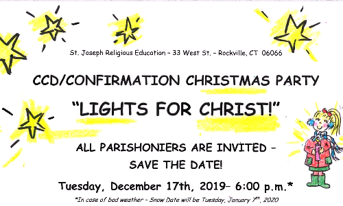 St. Joseph Religious Education To Host 'Lights For Christ' Celebration