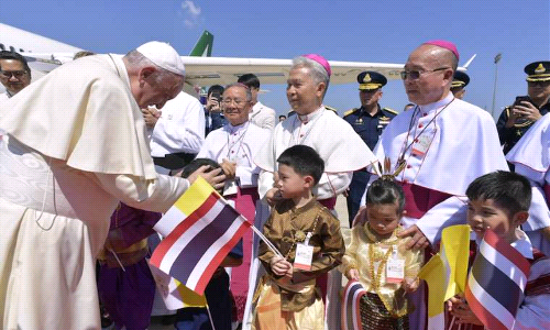Pope Calls on Catholics in Thailand to Follow in Footsteps of Early Missionaries