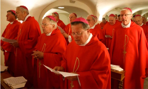 Bishop Cote in Rome to Meet with Pope Francis