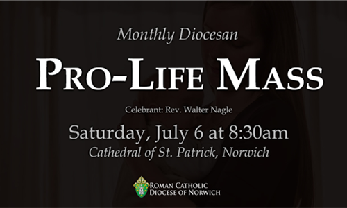 Monthly Diocesan Pro-Life Mass - Saturday, July 6 at 8:30am
